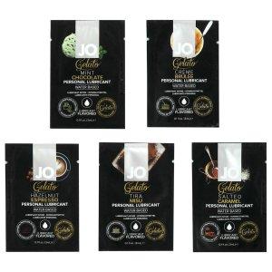 Degustační balíček lubrikačních gelů System JO Gelato - mix příchutí – Výhodná balení erotických pomůcek a doplňků