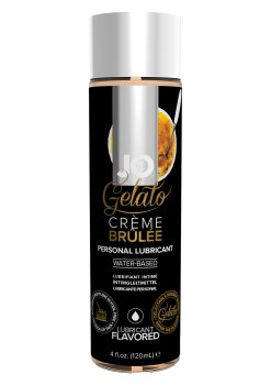 Lubrikační gel System JO Gelato Creme Brulee – Lubrikační gely s příchutí (ideální na orální sex)