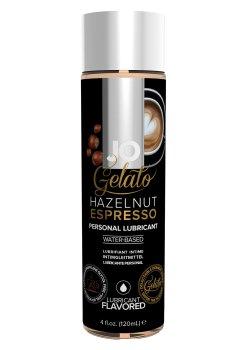 Lubrikační gel System JO Gelato Oříškové espresso – Lubrikační gely s příchutí (ideální na orální sex)