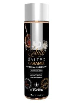 Lubrikační gel System JO Gelato Slaný karamel – Lubrikační gely s příchutí (ideální na orální sex)