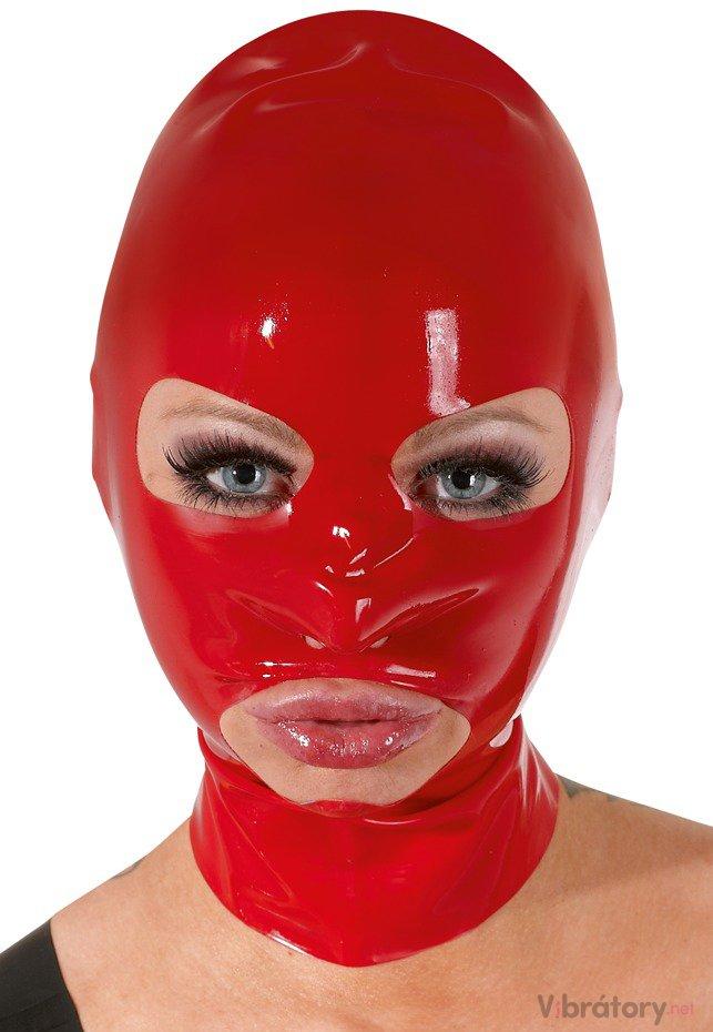 Latexová maska - červená, unisex