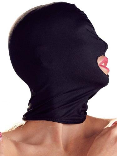Maska s otvorem pro ústa, černá
