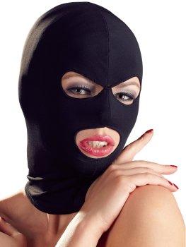 Maska s otvory pro oči a ústa, černá – Masky, kukly a šátky