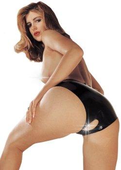 Latexové kalhotky s otevřeným rozkrokem – Latexové oblečení pro ženy