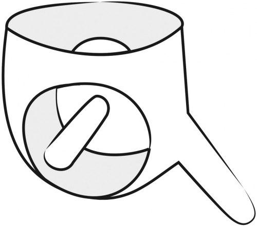 Latexové slipy se dvěma dildy