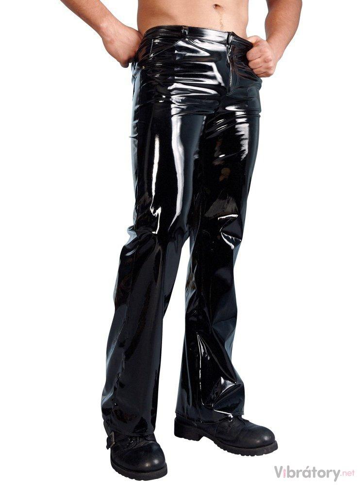 Dlouhé lesklé kalhoty Black Level, S
