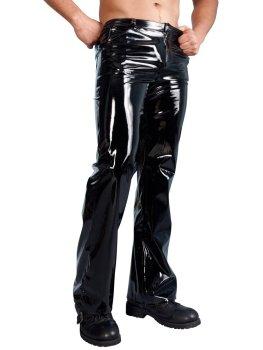 Dlouhé lesklé kalhoty – Lakované prádlo pro muže (vinyl)
