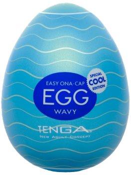 Masturbátor TENGA COOL Egg Wavy – Masturbátory a honítka TENGA