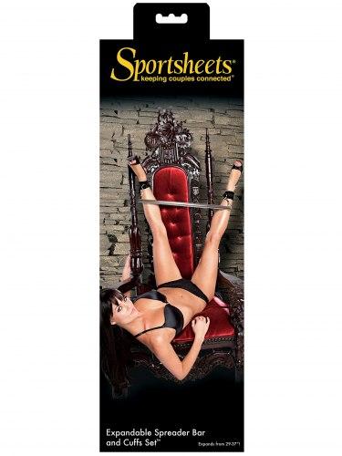 Nastavitelná roztahovací tyč s pouty Sportsheets