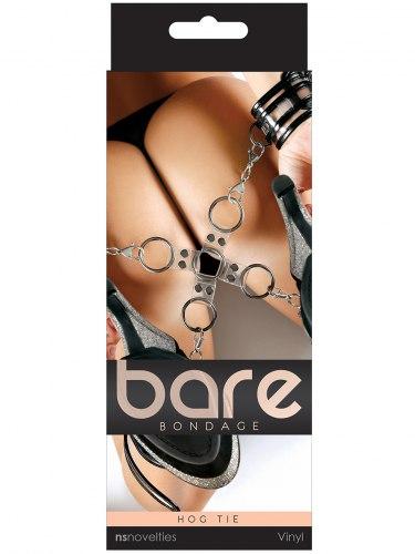Transparentní poutací kříž Bare Bondage
