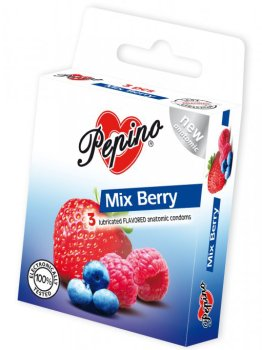 Kondomy Pepino Mix Berry – Kondomy s příchutí na orální sex