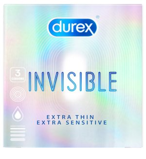 Kondomy Durex Invisible Extra Thin Extra Sensitive – Ztenčené a ultra tenké kondomy