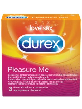 Kondomy Durex Pleasure Me – Kondomy s vroubky a výstupky