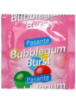 Kondom Pasante Bubblegum Burst – Kondomy s příchutí na orální sex