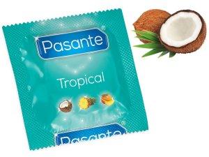 Kondom Pasante Tropical Coconut – Kondomy s příchutí na orální sex