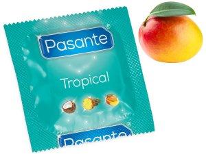 Kondom Pasante Tropical Mango – Kondomy s příchutí na orální sex