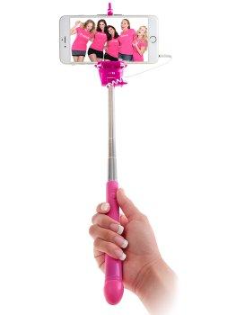 Rozkošná selfie tyč Dicky - s rukojetí ve tvaru penisu – Zábavné a sexy doplňky na párty a oslavy všeho druhu