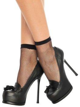 Síťované kotníčkové ponožky – Dámské sexy ponožky a podkolenky