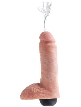 """Stříkající realistické dildo s varlaty King Cock 8"""" – Stříkající dilda"""
