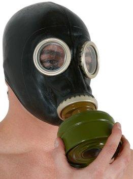 Latexová plynová maska – Masky, kukly a šátky