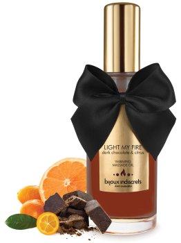 Hřejivý masážní olej Light My Fire - hořká čokoláda a citrus – Erotické masážní oleje a emulze