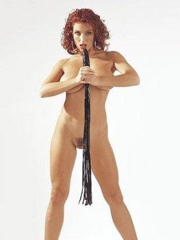 Latexový bič s dildem – Erotické pomůcky z latexu
