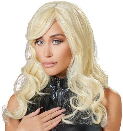 Paruka - dlouhá, lehce vlnitá, blond