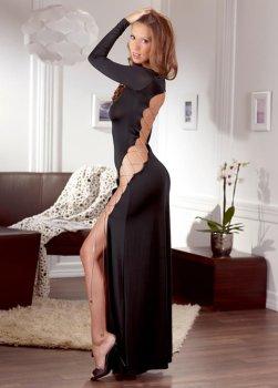 Úžasné dlouhé šaty s odhalenými zády a šněrováním – Dámské šaty a minišaty
