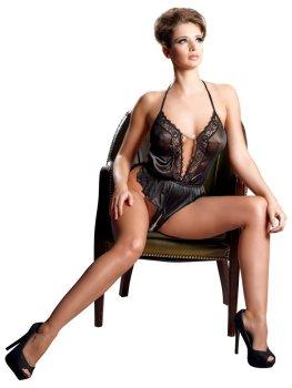 Vyzývavé body s otevřeným rozkrokem, krajkou a řetízkem – Sexy dámská body