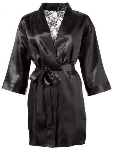 Saténové kimono s krajkovým zadním dílem
