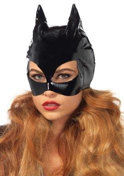 Lakovaná maska s kočičíma ušima Cat Woman – Masky, kukly a šátky