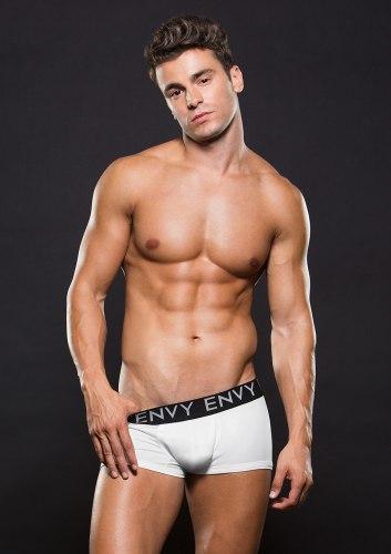 Boxerky s krátkými nohavičkami, bílé