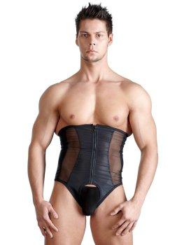 Korzet pro muže, černý s průsvitnými vsadkami – Ostatní pánské oblečení