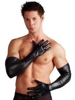 Dlouhé lesklé pánské rukavice – Ostatní pánské oblečení