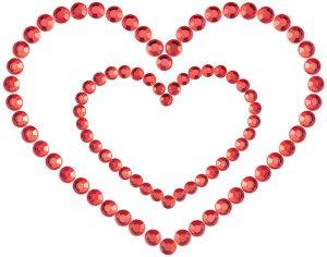 Samolepicí ozdoby na prsa MIMI Heart – Vzrušující nálepky na bradavky