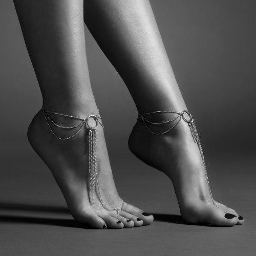 Ozdoba na kotníky Magnifique, stříbrná