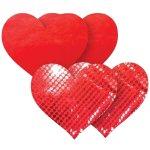Samolepicí ozdoby na bradavky Nippies Red Heart