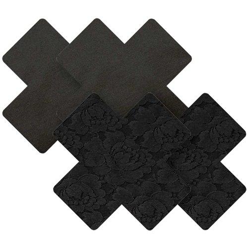 Samolepicí ozdoby na bradavky Nippies Black Cross