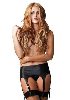 Vysoký podvazkový pás ve wetlook stylu – Vzrušující dámské podvazkové pásy a podvazky