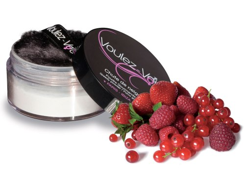 Luxusní jedlý tělový pudr Lady Snow Červené ovoce