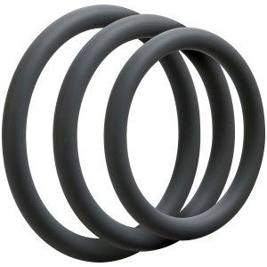 Sada tenkých erekčních kroužků OptiMALE Thin – Sady erekčních kroužků