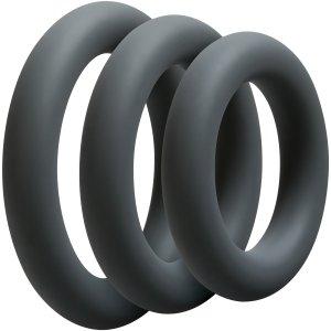 Sada tlustých erekčních kroužků OptiMALE Thick – Sady erekčních kroužků
