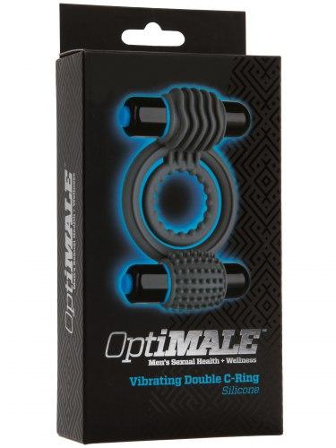 Dvojitý vibrační erekční kroužek OptiMALE