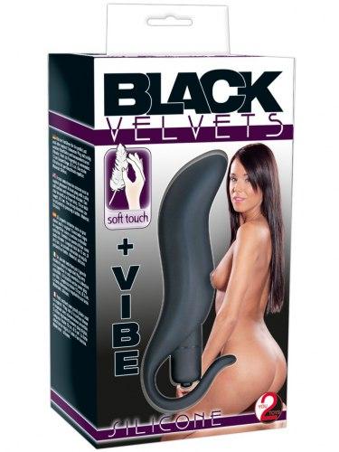 Vibrační anální/vaginální kolík Black Velvets +VIBE