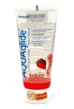 Lubrikační gel Aquaglide jahoda – Lubrikační gely s příchutí (ideální na orální sex)