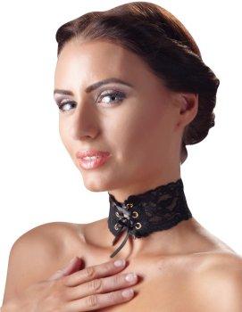 Ozdobný krajkový obojek se šněrováním – Úžasné ozdoby na krk, náhrdelníky a ozdobné obojky