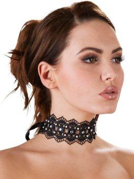 Ozdobný vyšívaný obojek se štrasovými kamínky – Úžasné ozdoby na krk, náhrdelníky a ozdobné obojky
