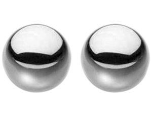Netradiční vaginální kuličky Ben-Wa Steele Balls – Vaginální kuličky Ben-Wa