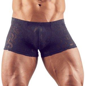Průsvitné pánské boxerky s natištěným abstraktním motivem – Pánské boxerky, slipy, tanga a jocksy