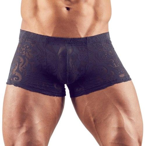 Průsvitné pánské boxerky s natištěným abstraktním motivem